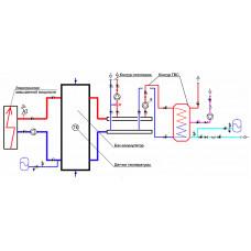 Буферная емкость, теплоаккумулятор для электрического котла отопления.